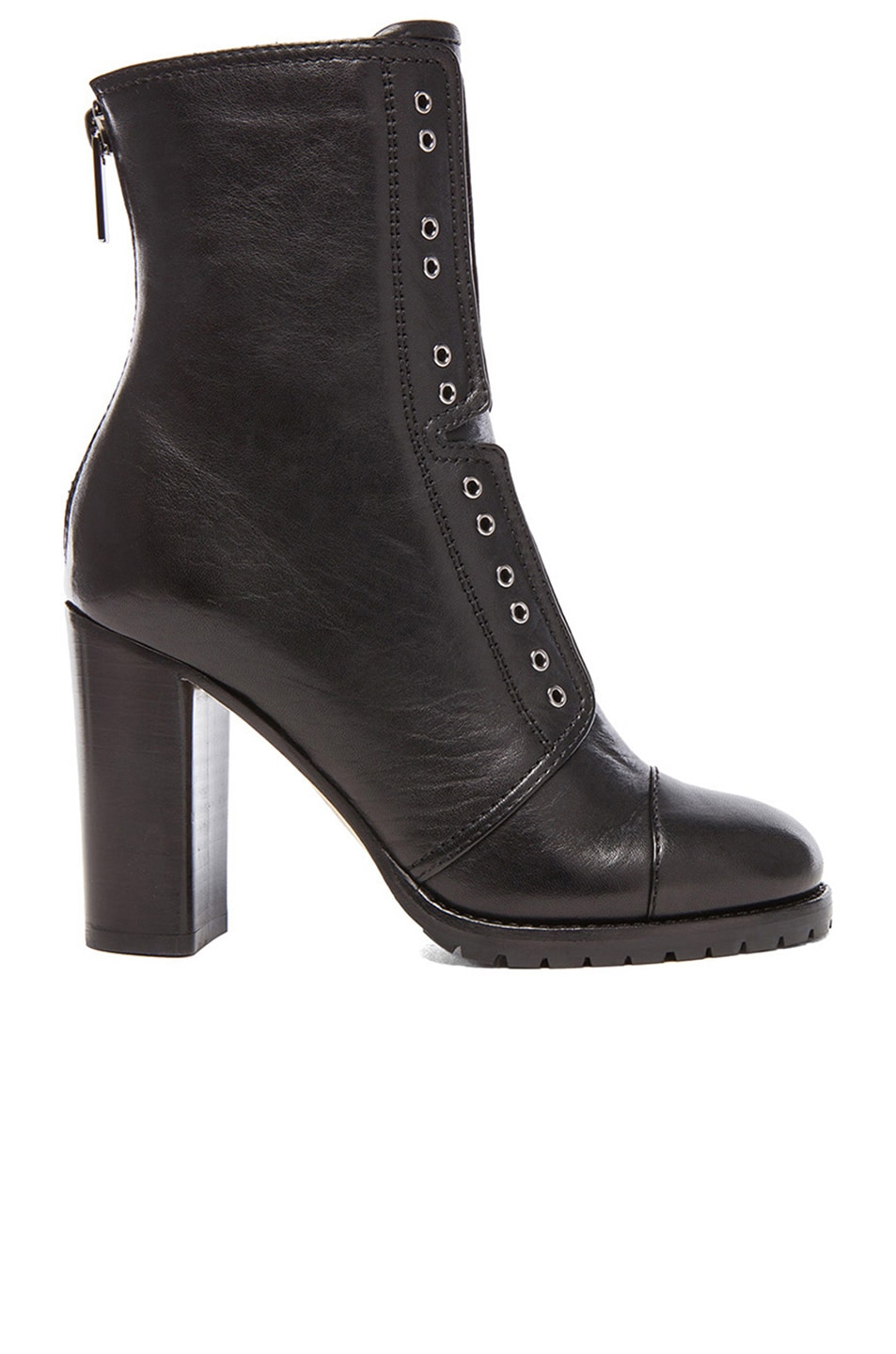 Image 1 of Jimmy Choo Leather Datchet Leather Combat Boots in black
