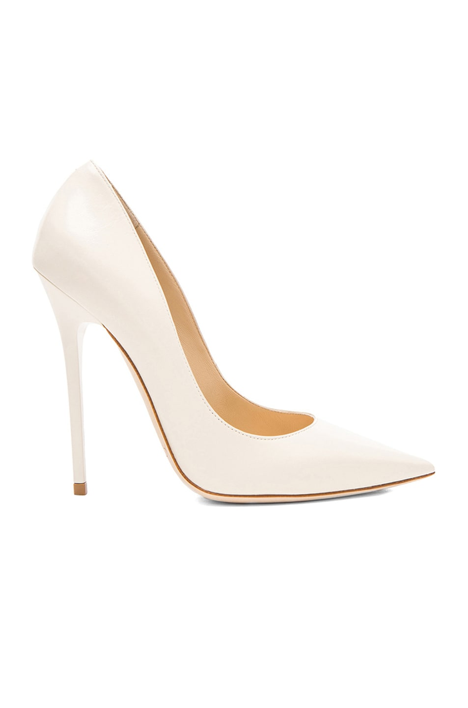 Image 1 of Jimmy Choo Anouk Leather Pumps in Off White