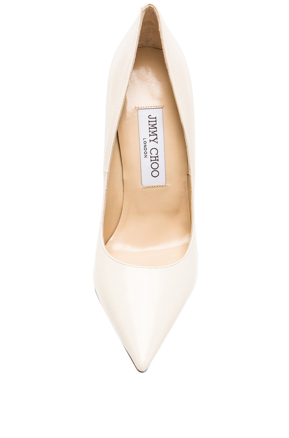Image 4 of Jimmy Choo Anouk Leather Pumps in Off White