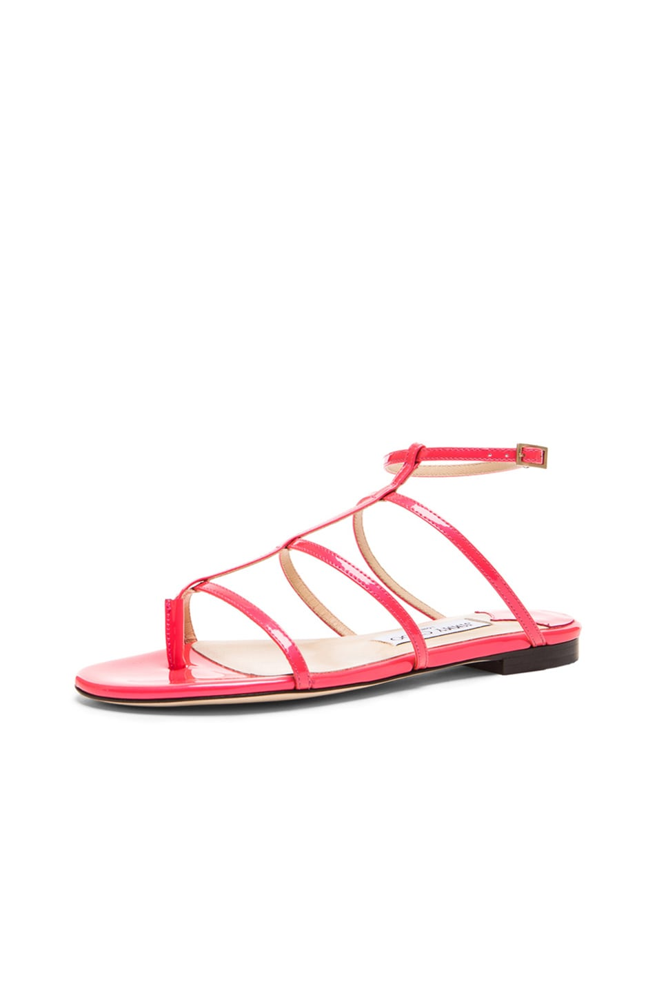 81e64f28b6e22 Image 2 of Jimmy Choo Doodle Patent Leather Thong Sandals in Geranium