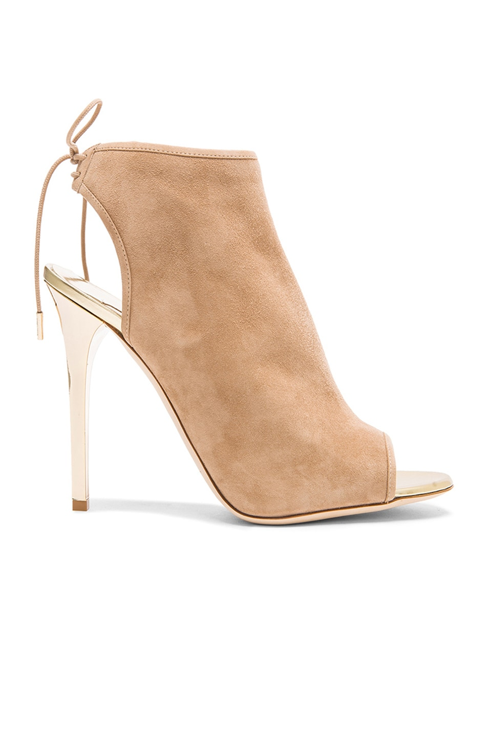 Image 1 of Jimmy Choo Flume Suede Ankle Booties in Champagne & Nude