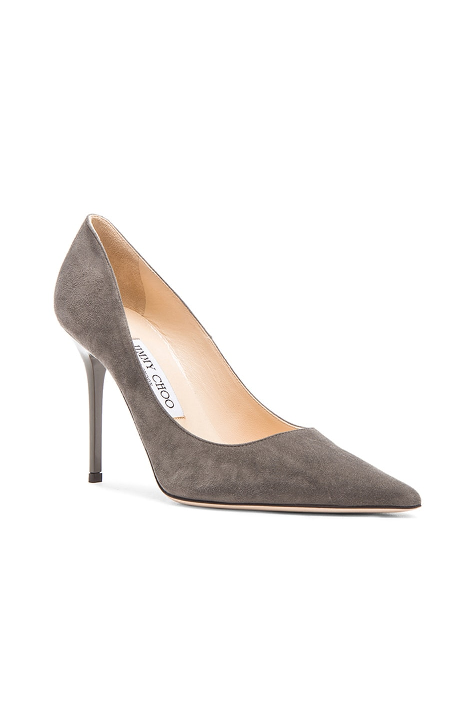 Image 2 of Jimmy Choo Abel Pointed Suede Pumps in Twilight