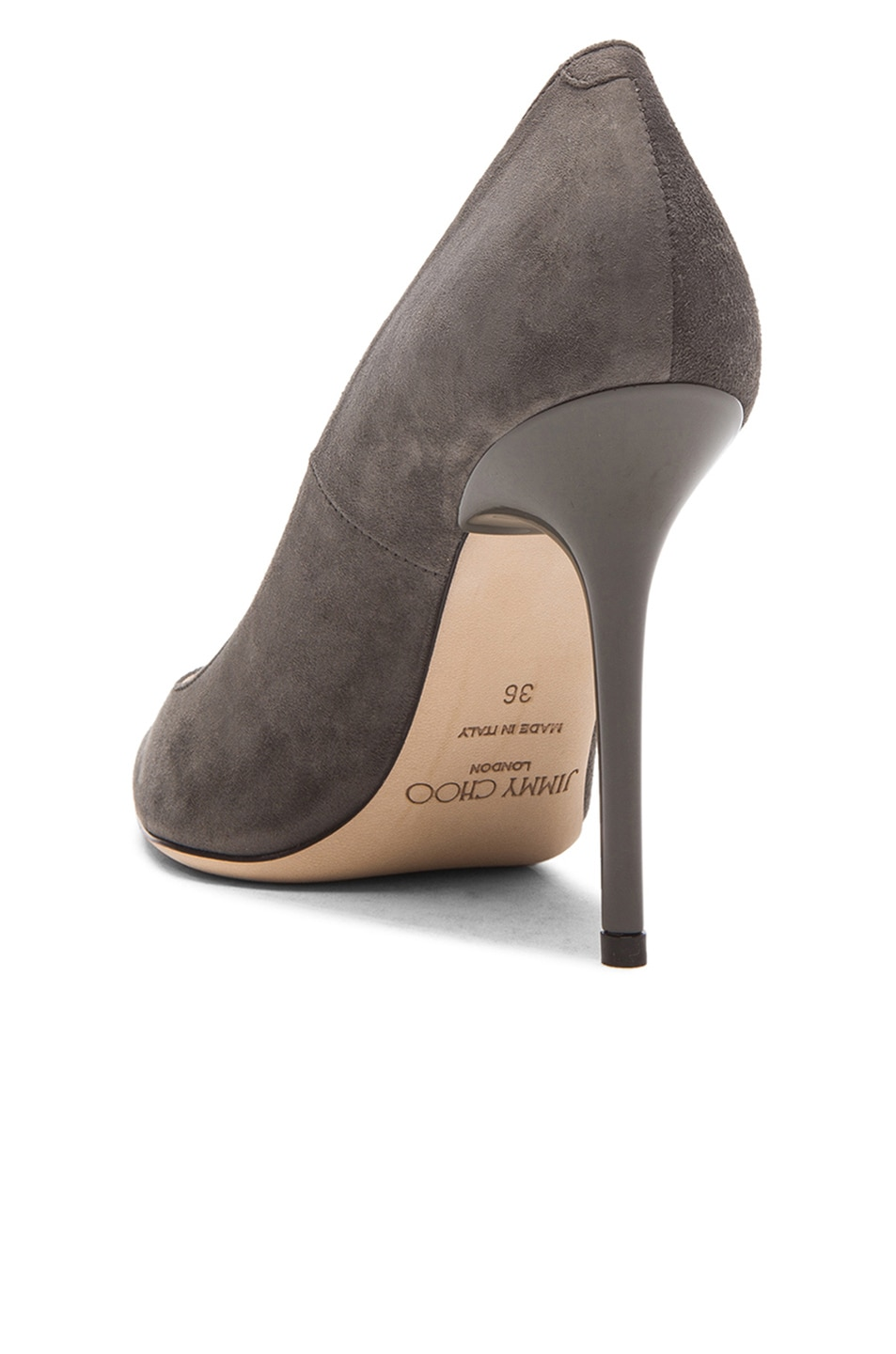 Image 3 of Jimmy Choo Abel Pointed Suede Pumps in Twilight
