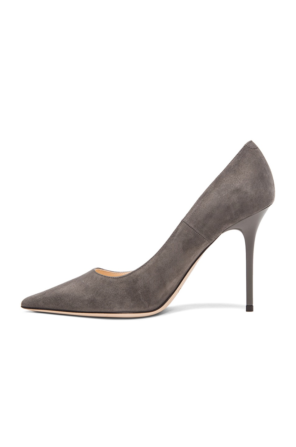 Image 5 of Jimmy Choo Abel Pointed Suede Pumps in Twilight