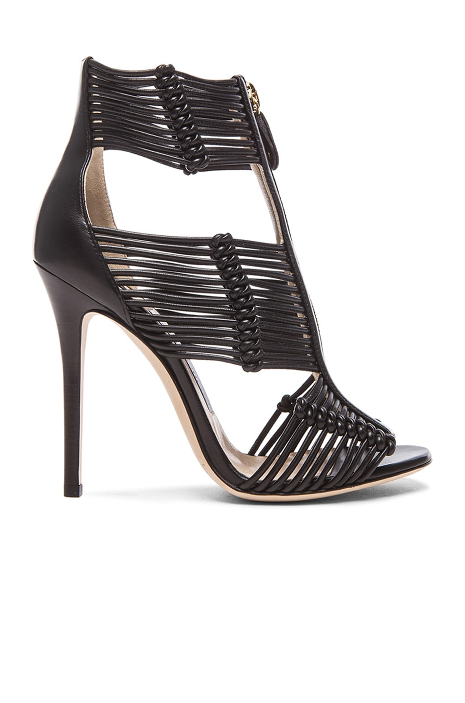 Image 1 of Jimmy Choo Kattie Leather Heels in Black