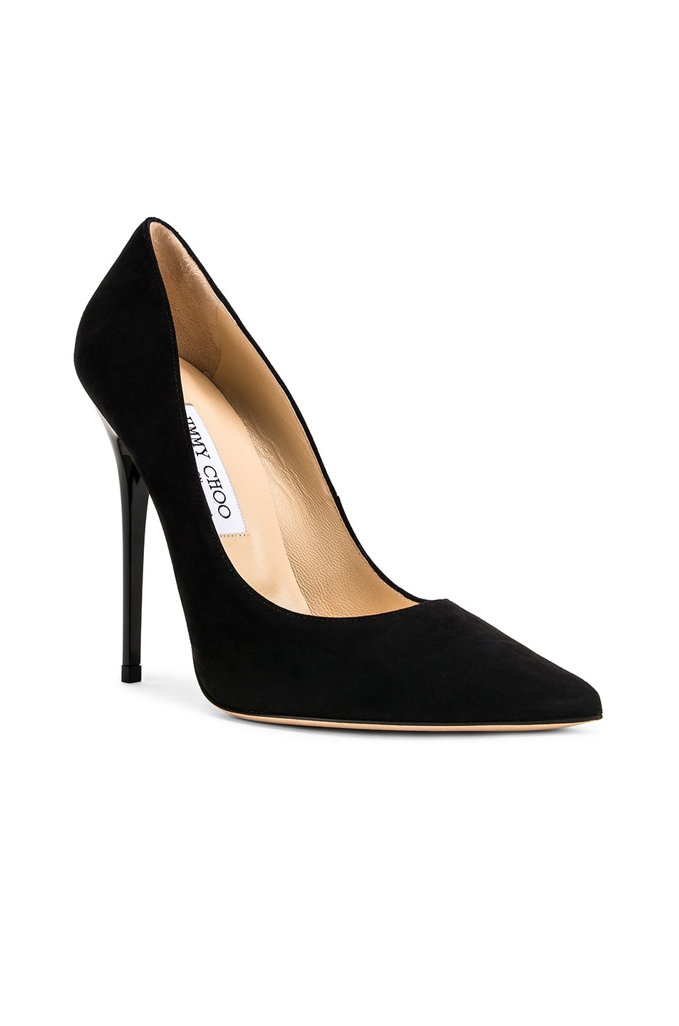Image 2 of Jimmy Choo Anouk 120 Suede Pumps in Black
