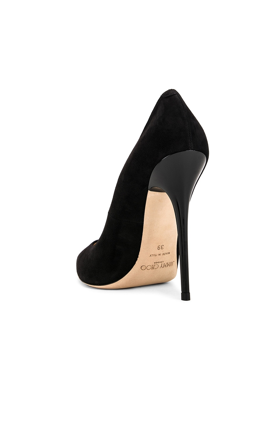 Image 3 of Jimmy Choo Anouk 120 Suede Pumps in Black