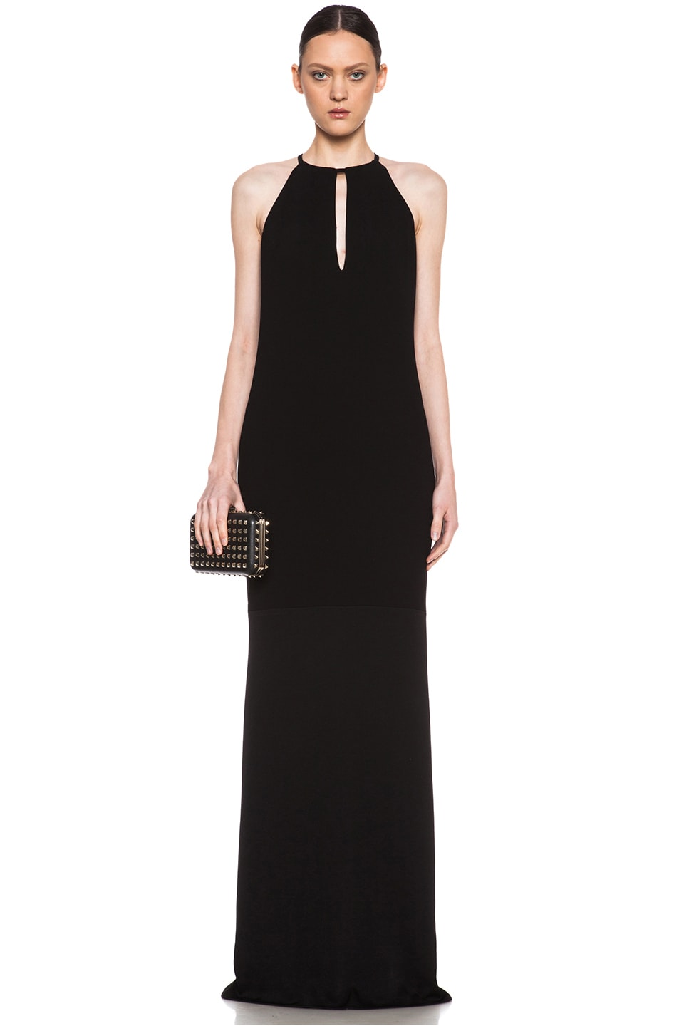 Image 1 of Jenni Kayne Keyhole Acetate-Blend Gown in Black