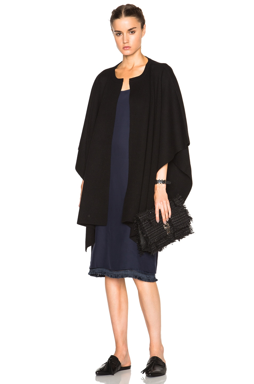 Image 1 of Jenni Kayne Cashmere Poncho in Black