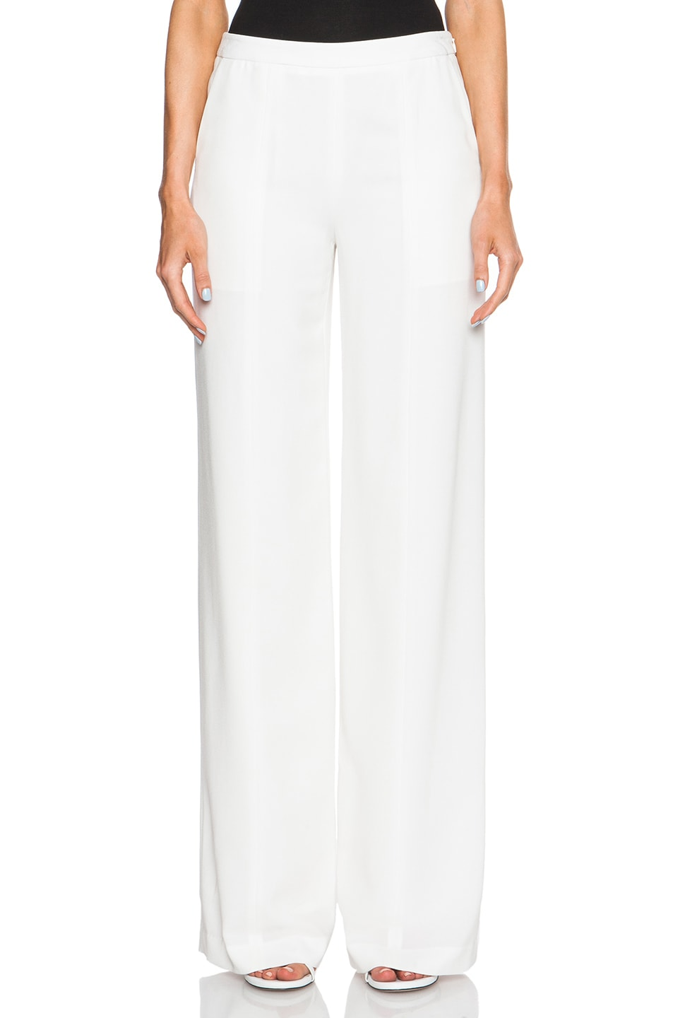 Jenni Kayne Lightweight Crepe Wide Leg Pants in Ivory | FWRD