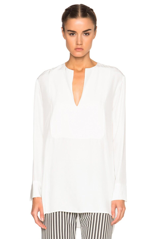 Image 1 of Jenni Kayne Collarless Tuxedo Tunic in Ivory
