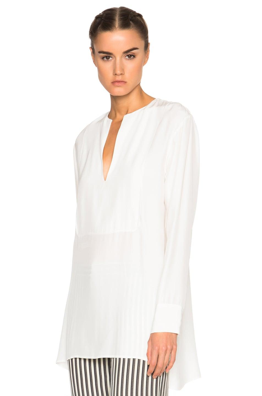 Image 2 of Jenni Kayne Collarless Tuxedo Tunic in Ivory