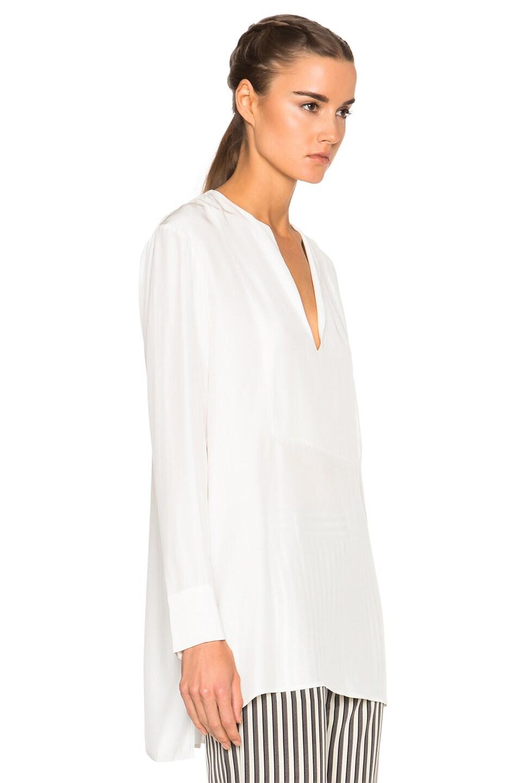 Image 3 of Jenni Kayne Collarless Tuxedo Tunic in Ivory