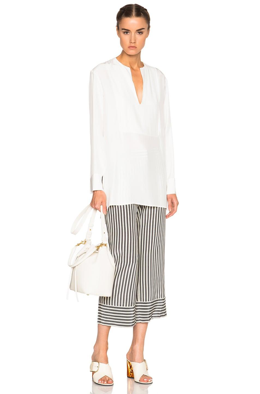 Image 5 of Jenni Kayne Collarless Tuxedo Tunic in Ivory