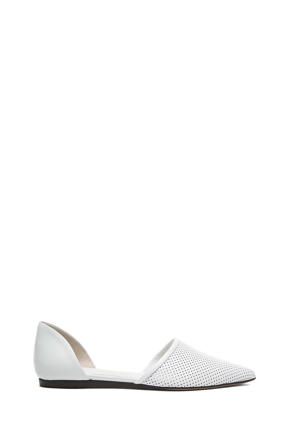 Image 1 of Jenni Kayne Perforated Leather Flats in White