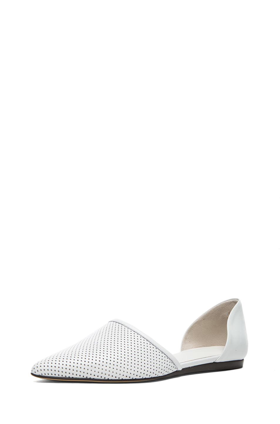 Image 2 of Jenni Kayne Perforated Leather Flats in White