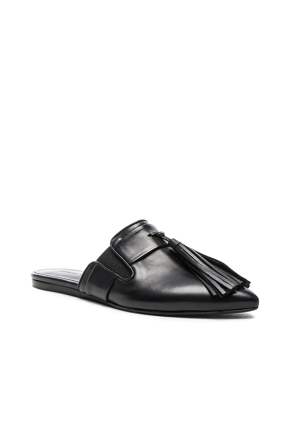 Image 2 of Jenni Kayne Leather Tassel Mules in Black