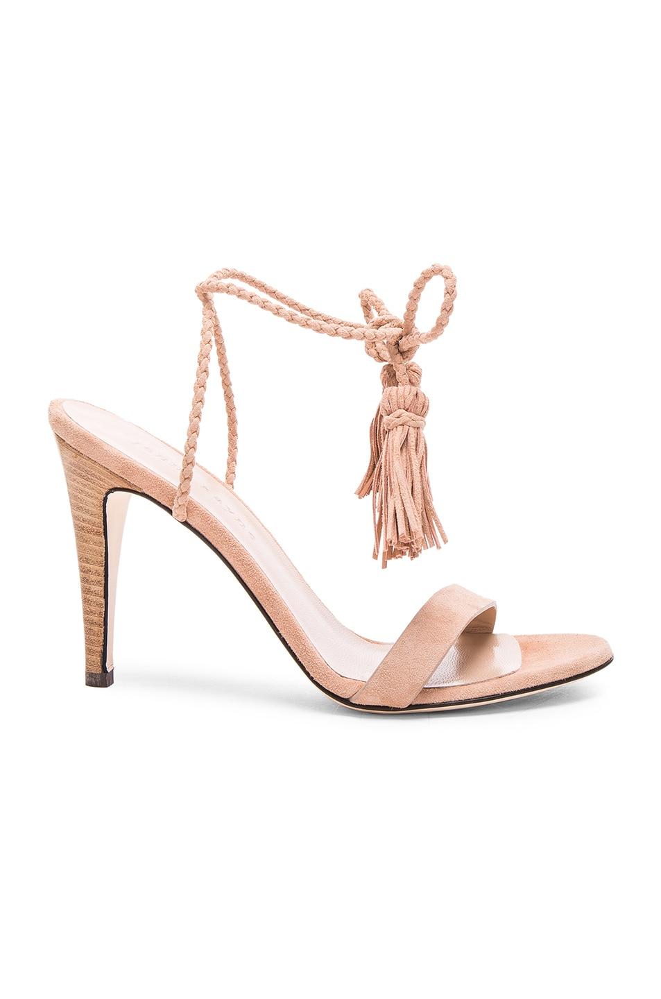 Image 1 of Jenni Kayne Suede Tassel Heels in Natural