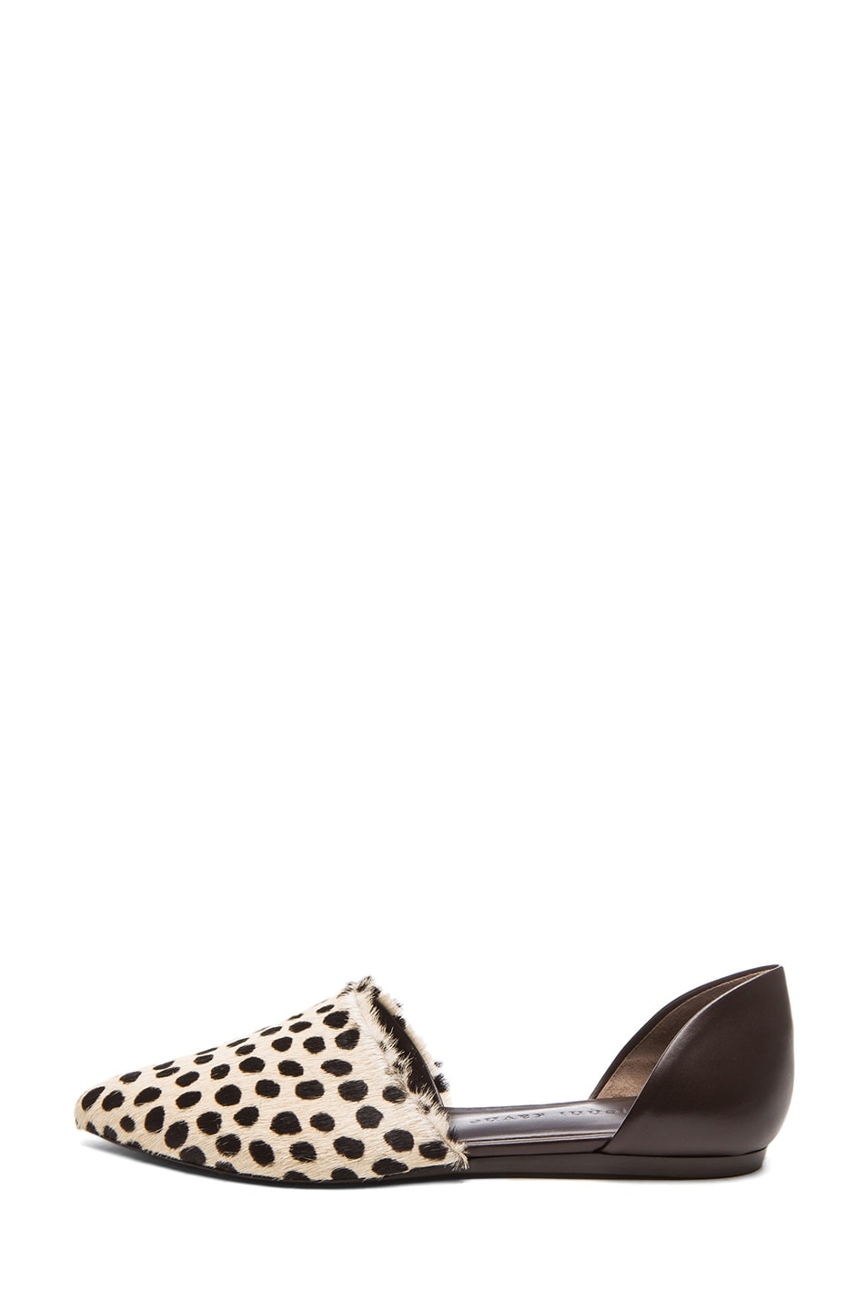 Image 1 of Jenni Kayne D'orsay Calf Hair & Leather Flats in Cheetah &