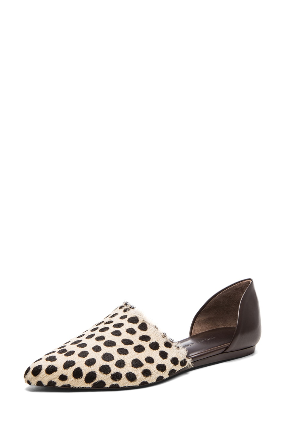 Image 2 of Jenni Kayne D'orsay Calf Hair & Leather Flats in Cheetah &