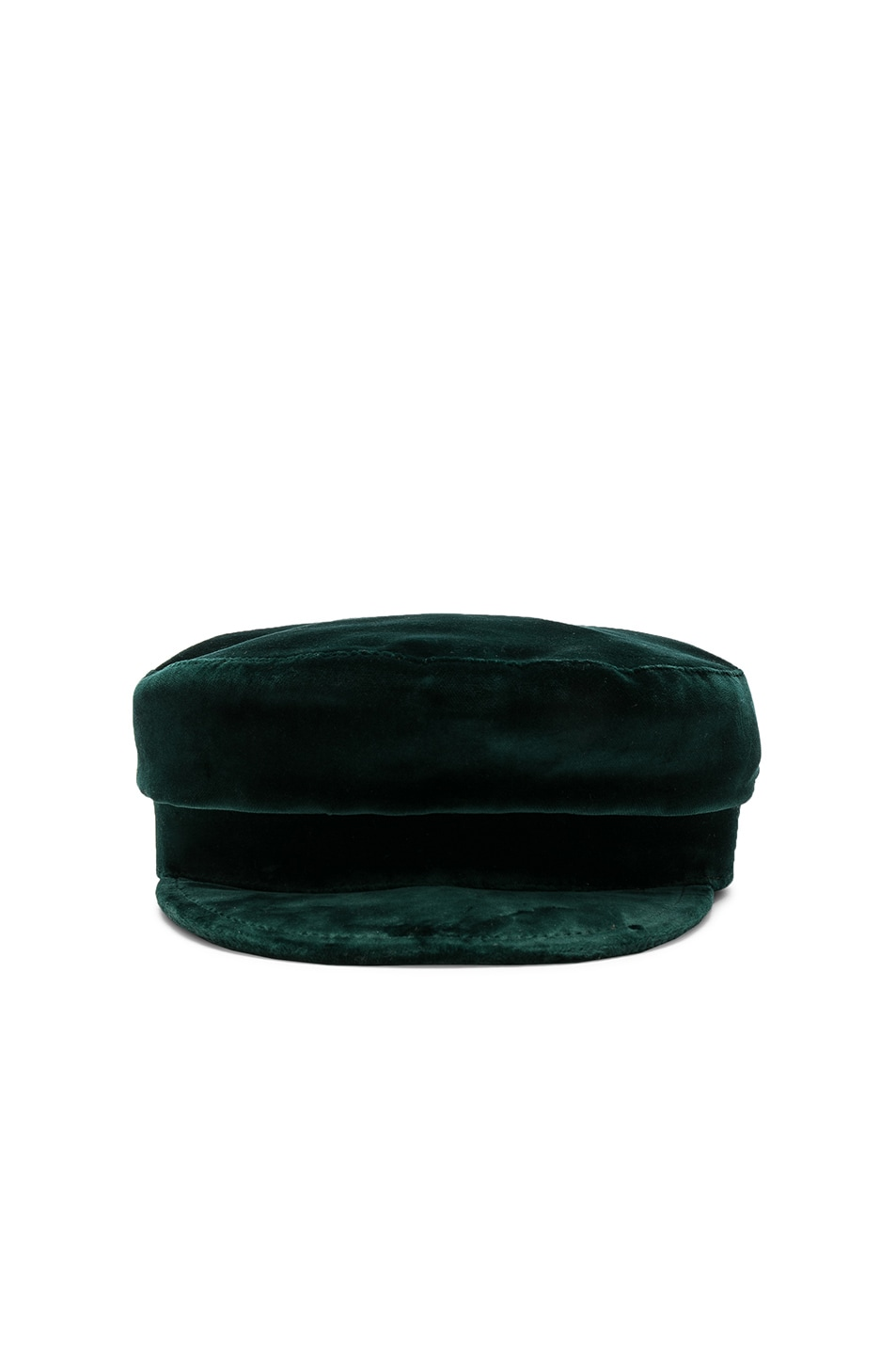 Image 1 of Janessa Leone Mattie Fisherman Velvet Cap in Emerald