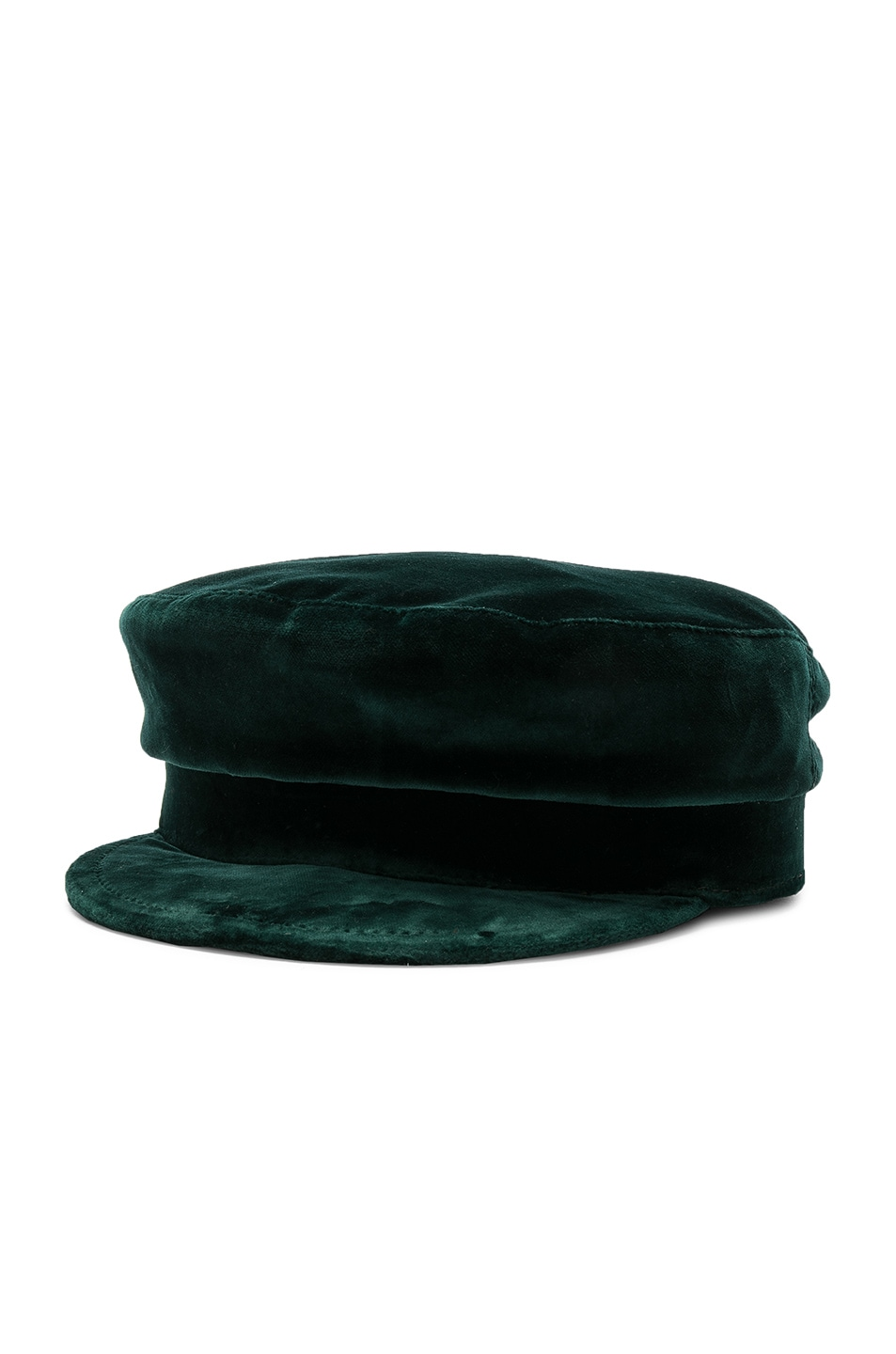 Image 2 of Janessa Leone Mattie Fisherman Velvet Cap in Emerald