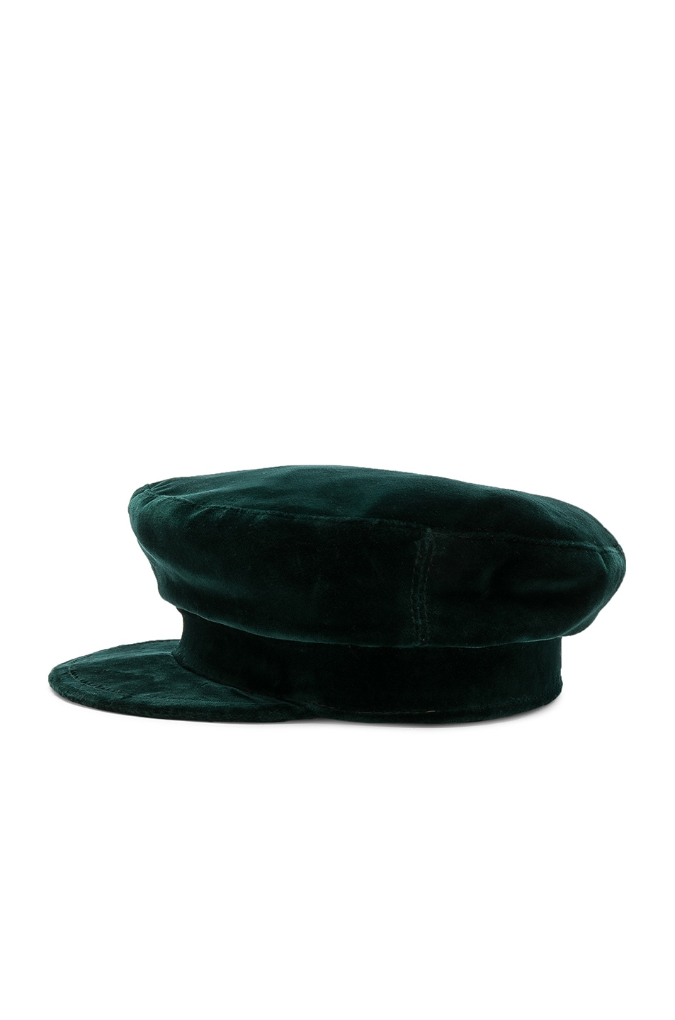 Image 3 of Janessa Leone Mattie Fisherman Velvet Cap in Emerald