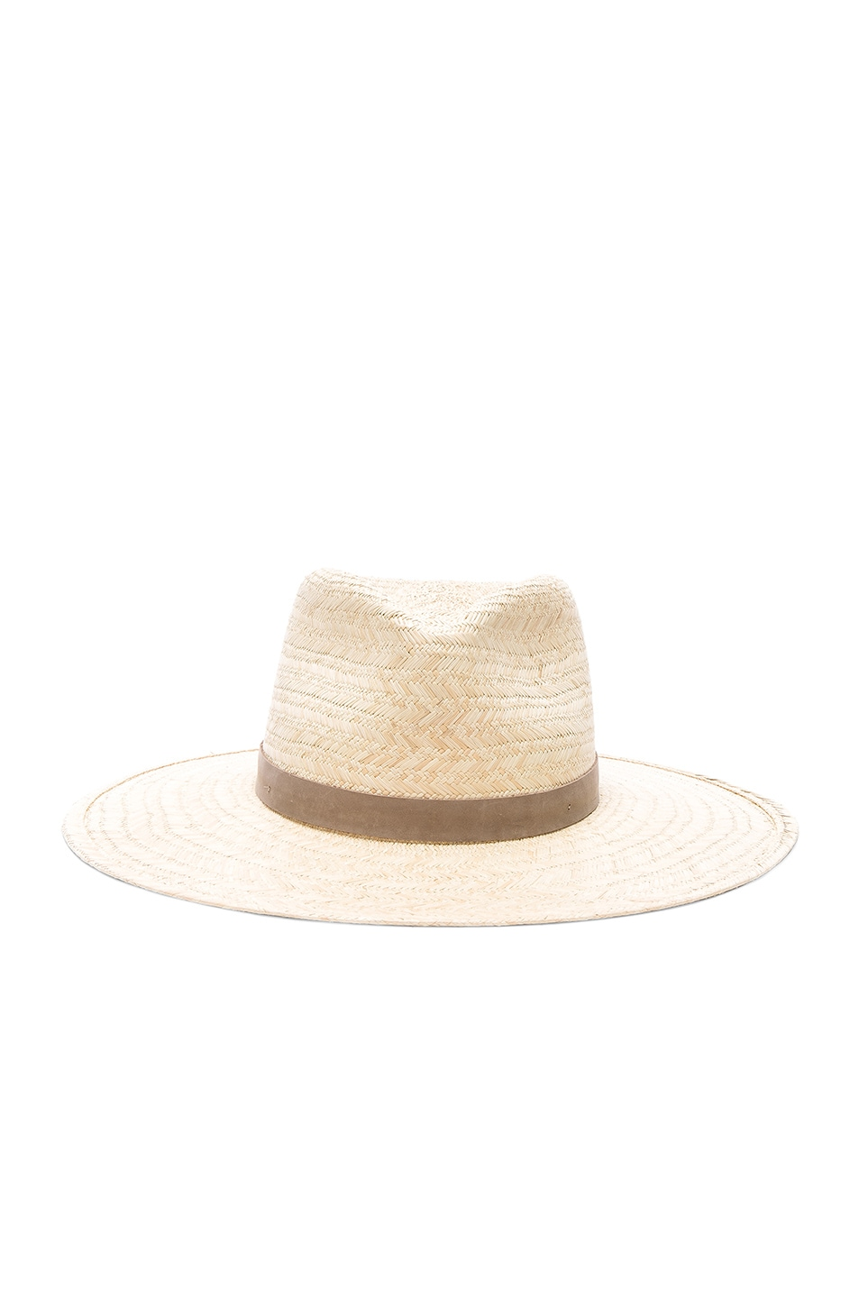 b8bb4ae23b2e2a Image 1 of Janessa Leone Dillon Fedora Hat in Natural & Taupe