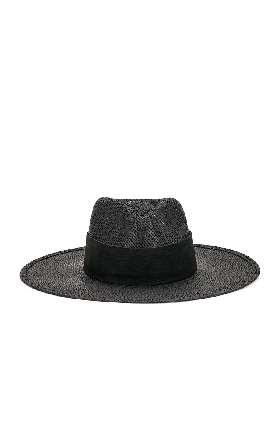 Janessa Leone Hats JANESSA LEONE ROSE PACKABLE HAT IN BLACK.