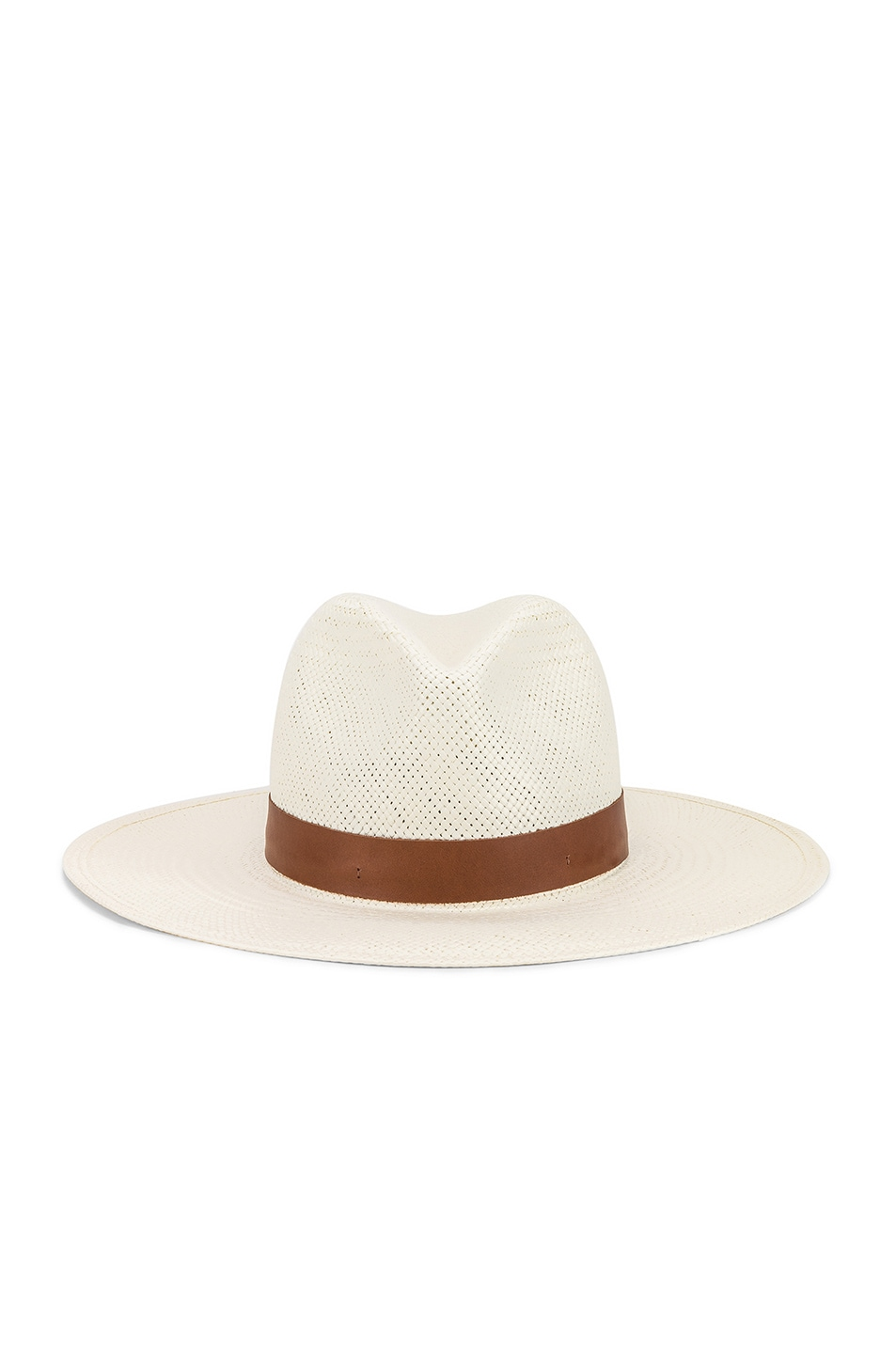 Janessa Leone Hats JANESSA LEONE MICHON PACKABLE HAT IN WHITE