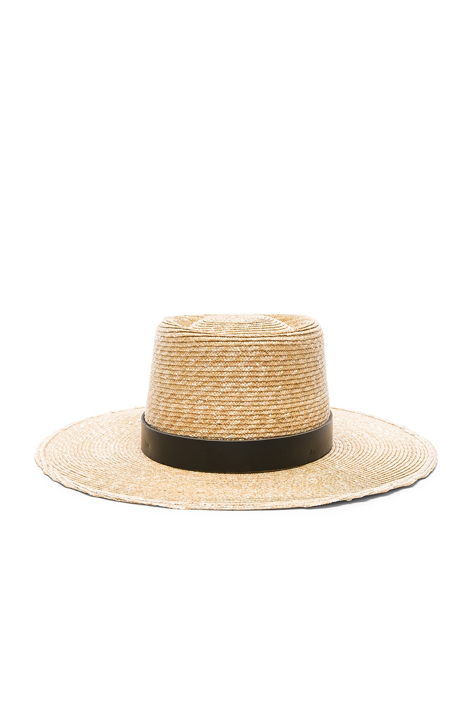 Image 1 of Janessa Leone Ruth Boater Hat in Natural & Black