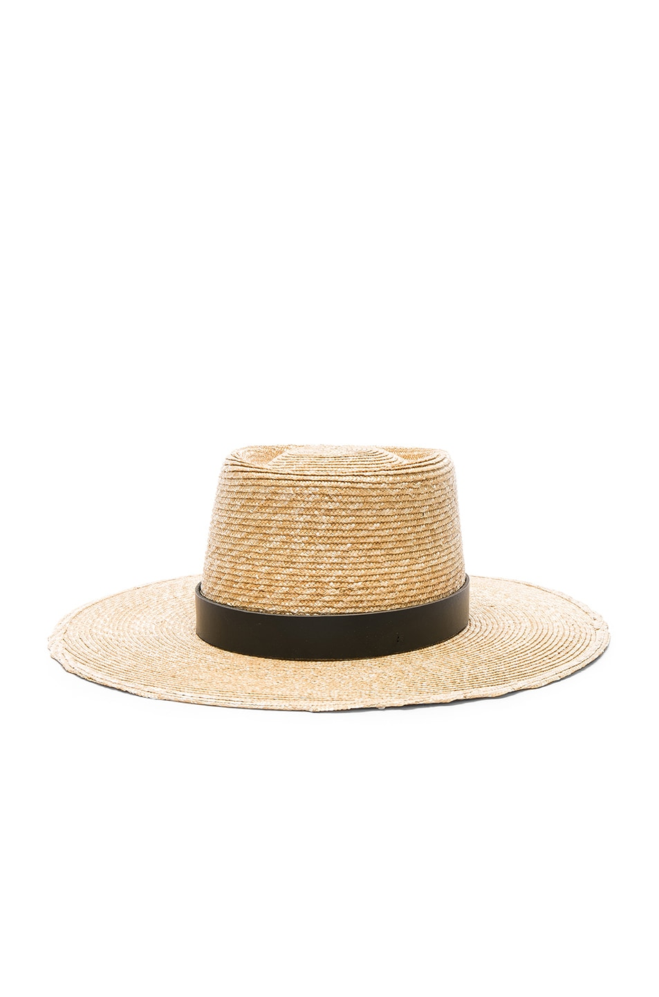 Image 2 of Janessa Leone Ruth Boater Hat in Natural & Black