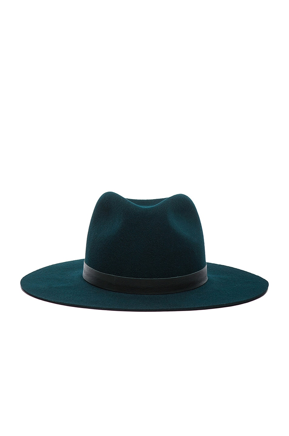 Image 1 of Janessa Leone Charles Hat in Forrest Green