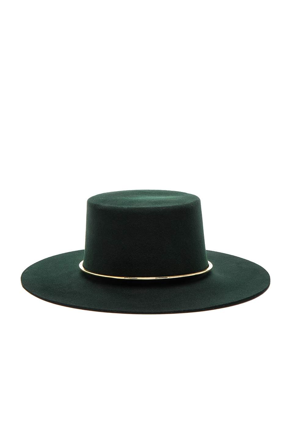 Image 1 of Janessa Leone Crisiant Hat in Deep Green