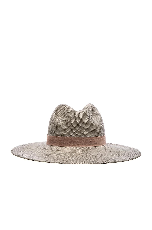 cadb5aec Image 1 of Janessa Leone Angelica Wide Brim Hat in Silver Sage