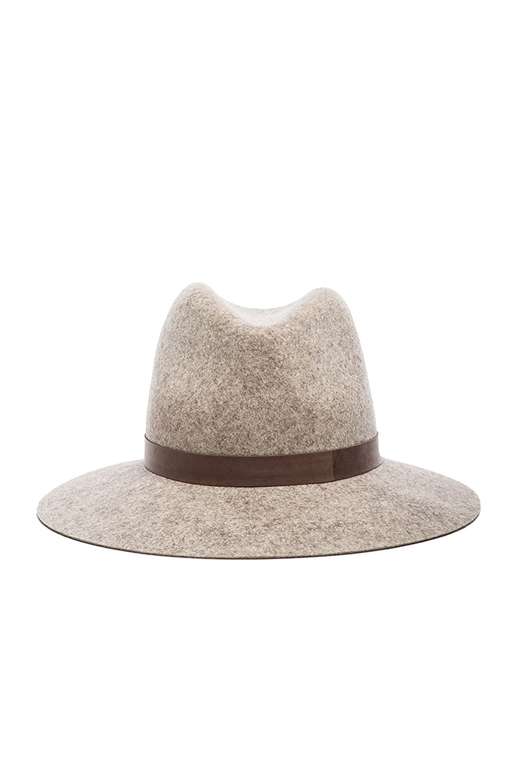 Image 1 of Janessa Leone Julia Wool Felt Hat in Natural Blend