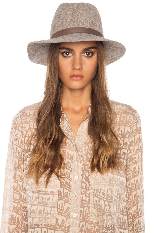 Image 2 of Janessa Leone Julia Wool Felt Hat in Natural Blend