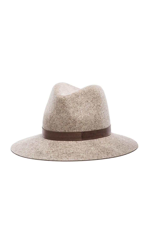 Image 3 of Janessa Leone Julia Wool Felt Hat in Natural Blend