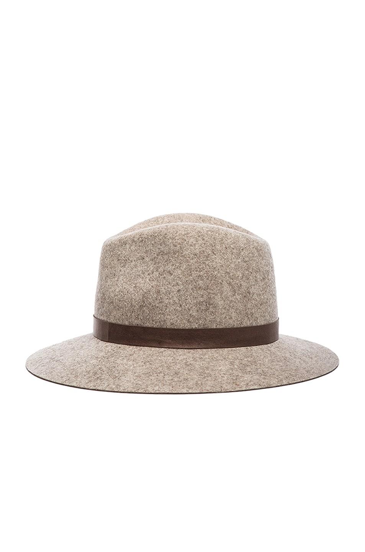 Image 4 of Janessa Leone Julia Wool Felt Hat in Natural Blend