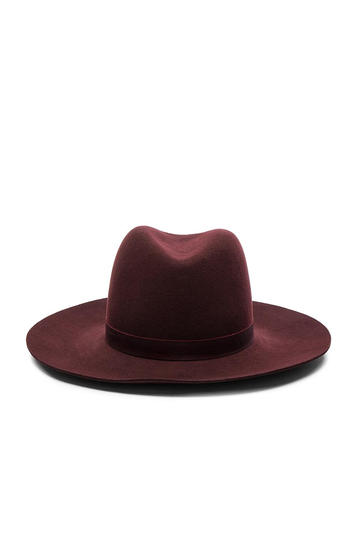 Image 1 of Janessa Leone Lea Hat in Cranberry