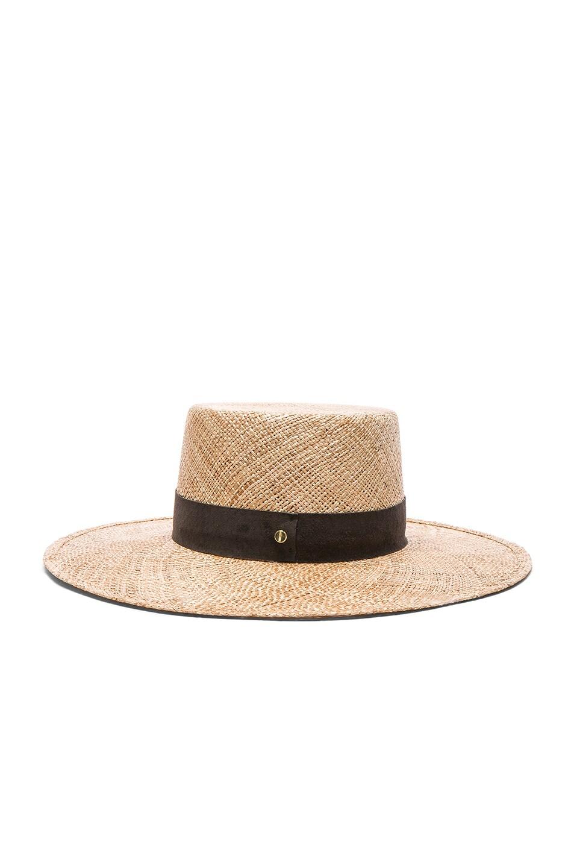 3a462e275b0d4 Image 4 of Janessa Leone Jade Bolero Hat in Natural