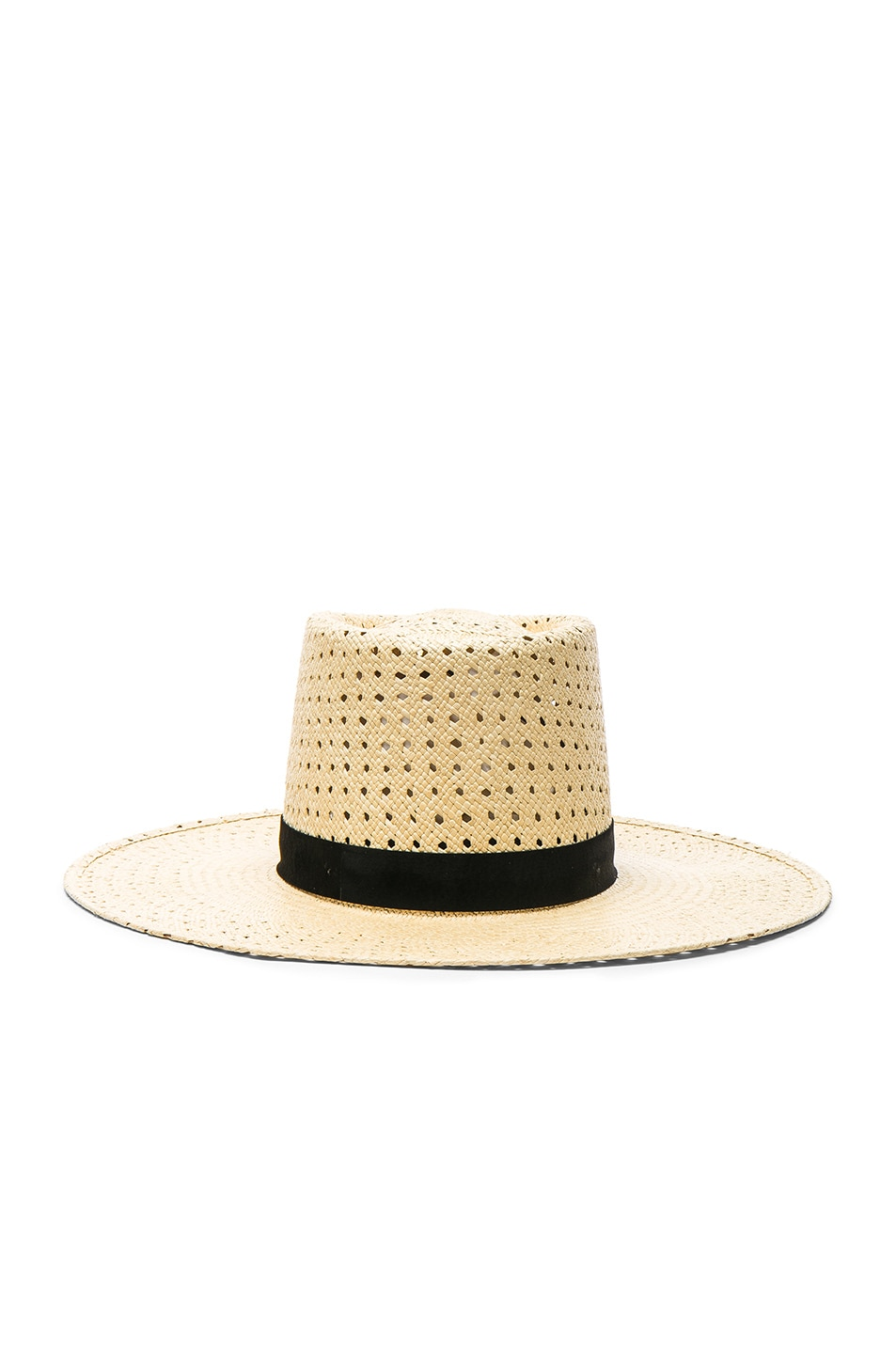 Image 1 of Janessa Leone Maxime Telescope Crown Panama Hat in Natural