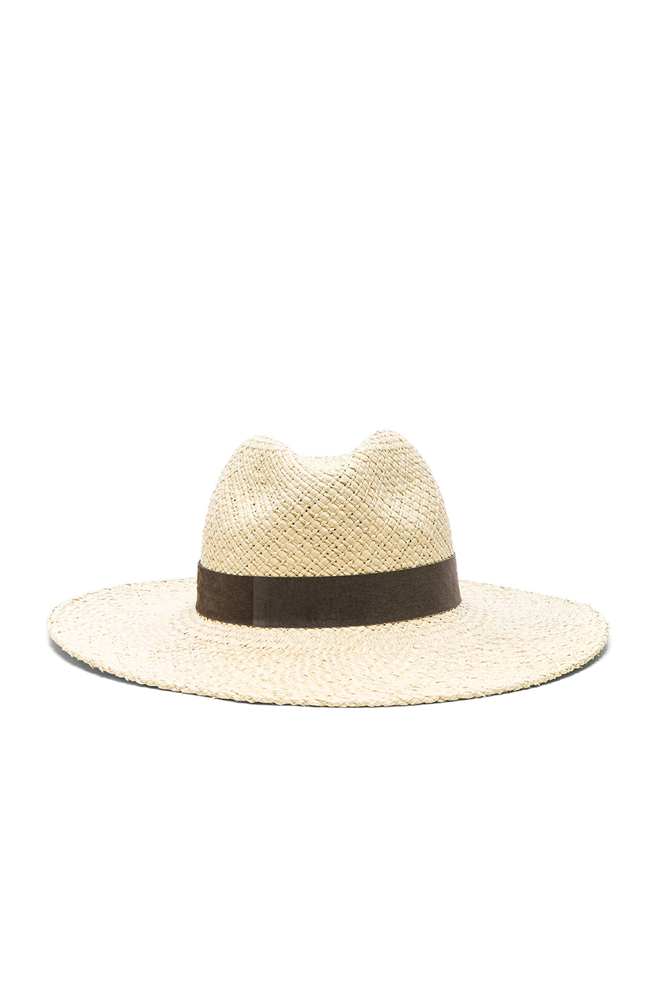 Image 1 of Janessa Leone Ana Wide Brimmed Panama Hat in Natural