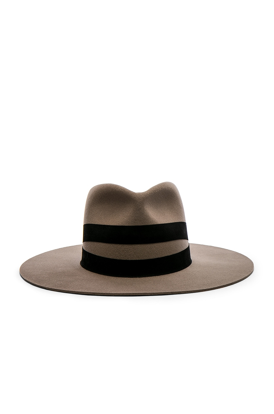 Image 1 of Janessa Leone Un Fedora Hat in Dark Sand