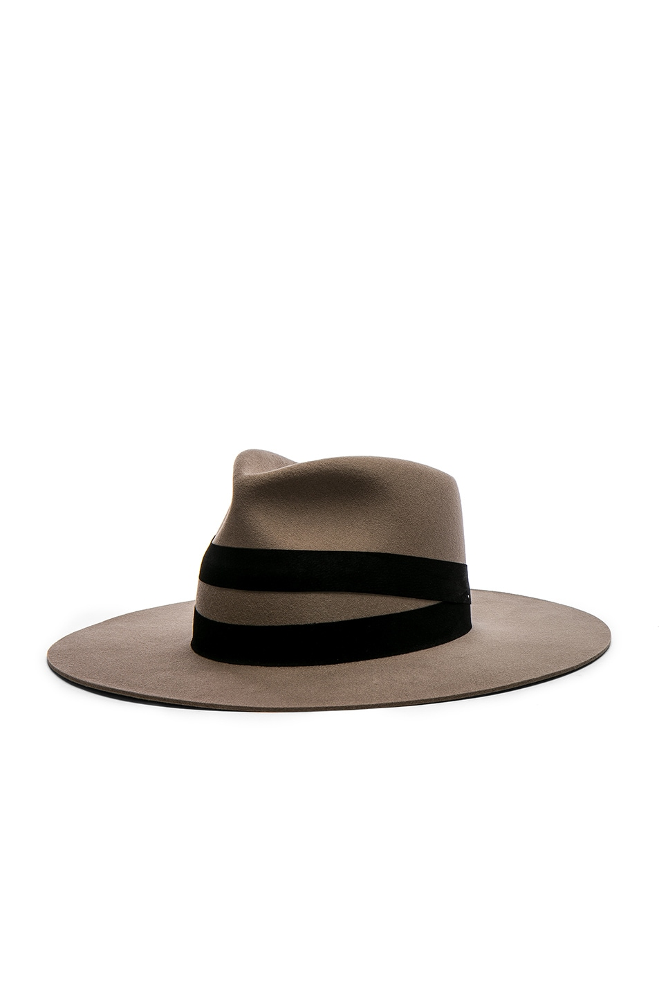 Image 2 of Janessa Leone Un Fedora Hat in Dark Sand