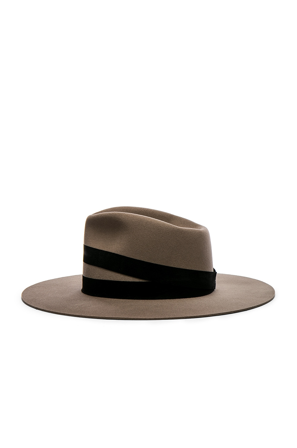 Image 3 of Janessa Leone Un Fedora Hat in Dark Sand