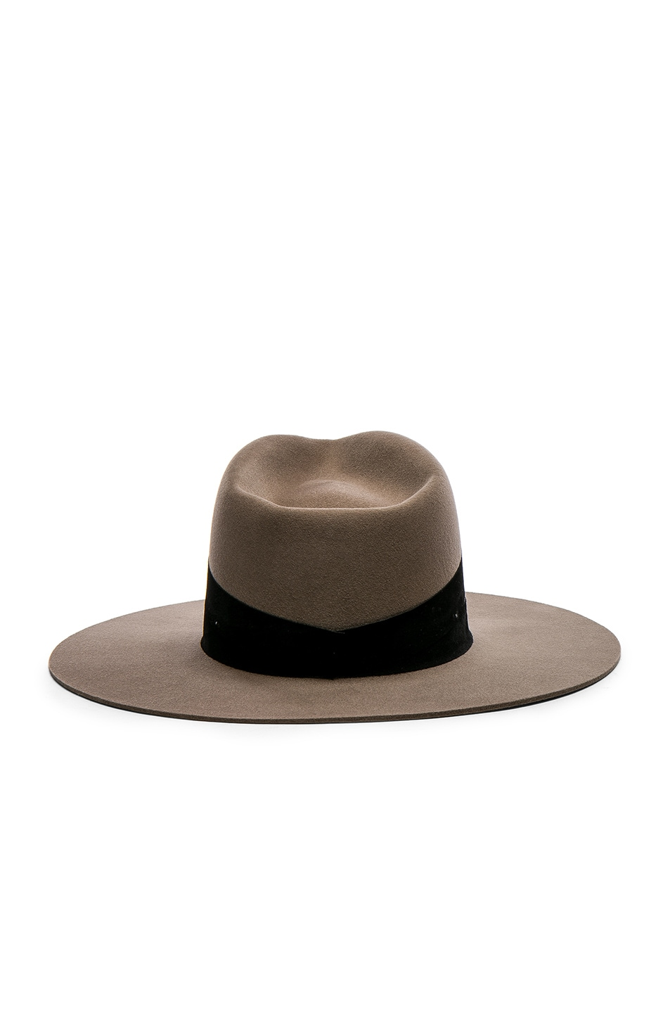 Image 4 of Janessa Leone Un Fedora Hat in Dark Sand