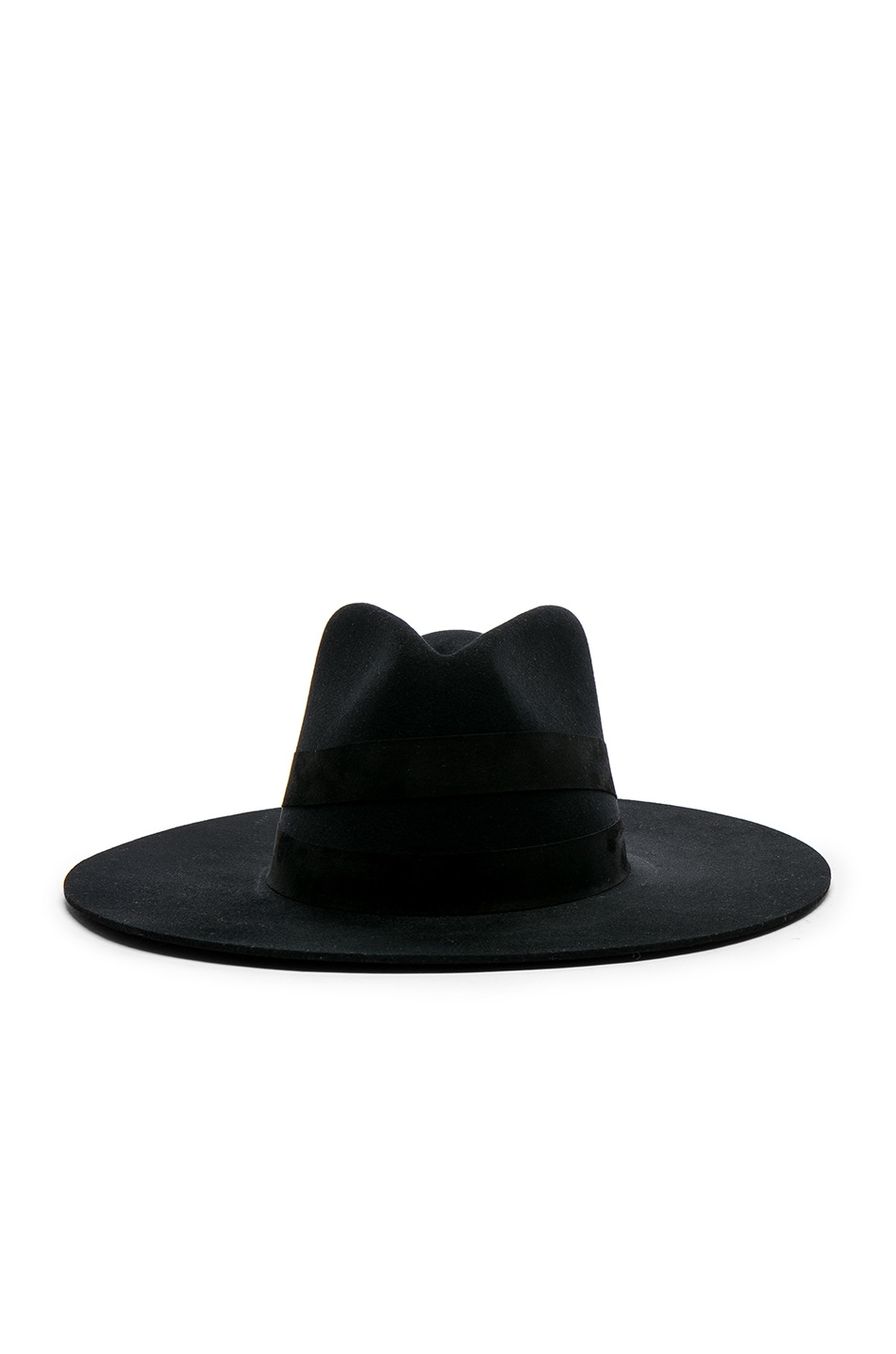 Image 1 of Janessa Leone Deux Fedora Hat in Black