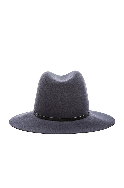 Image 1 of Janessa Leone Michelle Wool Felt Hat in Gunmetal