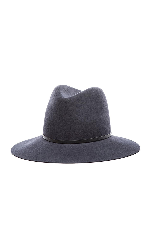 Image 3 of Janessa Leone Michelle Wool Felt Hat in Gunmetal